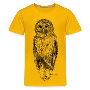 Barred Owl - 8630_stroked - Kids' Premium T-Shirt