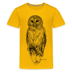 Barred Owl - 8630_stroked - Kids' Premium T-Shirt