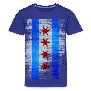 Chicago Flag Faded - Kids' Premium T-Shirt