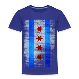 Chicago Flag Faded - Toddler Premium T-Shirt