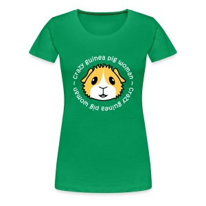'Crazy Guinea Pig Woman' Ladies Plus Size T-Shirt - Women's Premium T-Shirt
