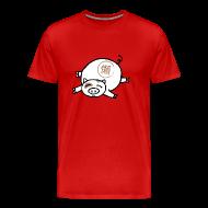 T-Shirts ~ Men's Premium T-Shirt ~ Lazy Pig! Men's Tee