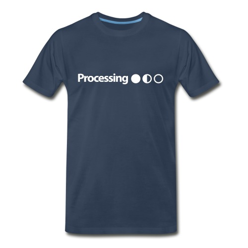Processing in White - Men's Premium T-Shirt