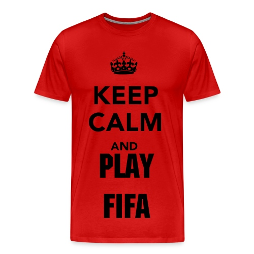 Keep Calm and Play Fifa - Men's Premium T-Shirt