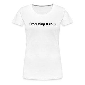 Processing in Black - Women's Premium T-Shirt