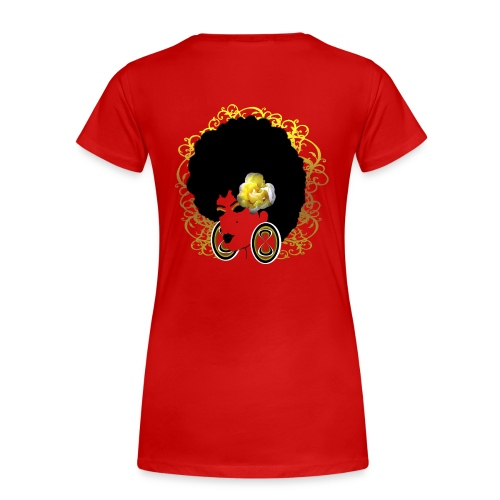Black Natural Hair Rock - Women's Premium T-Shirt