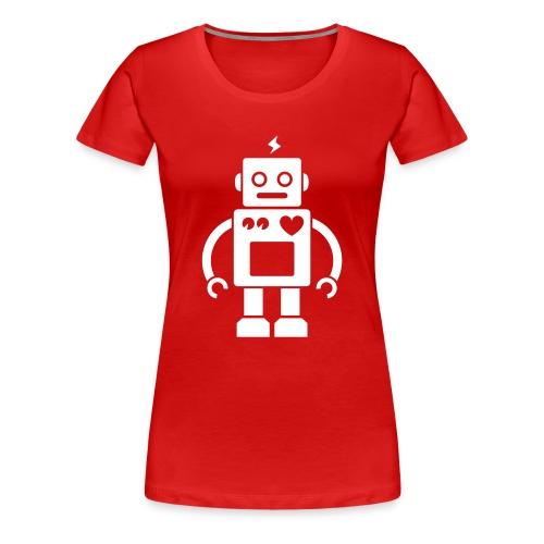 Robots Can Love Too Womens Tee - Women's Premium T-Shirt