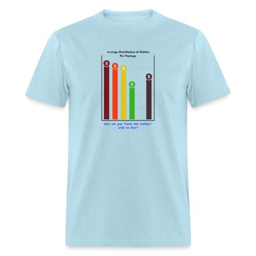 Skittles Color Distribution Infographic - Men's Short Sleeve T-shirt - Men's T-Shirt