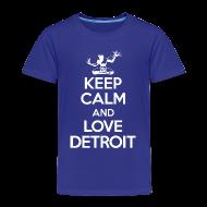 Baby & Toddler Shirts ~ Toddler Premium T-Shirt ~ Keep Calm And Love Detroit