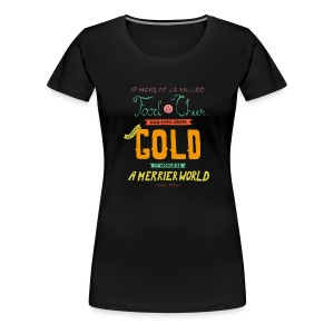 Women's Merrier World - Women's Premium T-Shirt