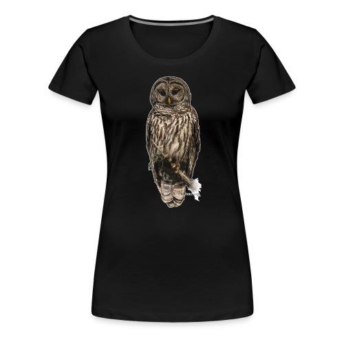 Barred Owl 8630_for Black - Women's Premium T-Shirt