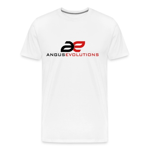 Angus Evolutions - Mens b/red - Men's Premium T-Shirt