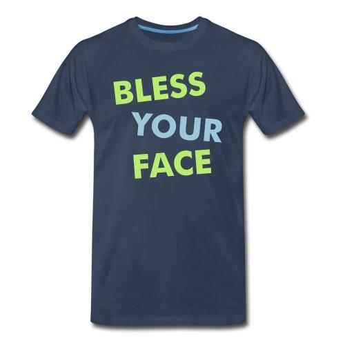 BLESS YOUR FACE - American Apparel - Men's Premium T-Shirt