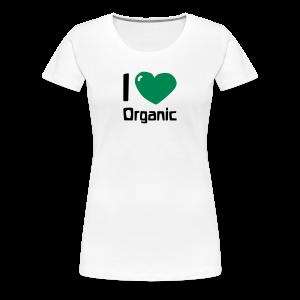I love Organic - Women's Premium T-Shirt