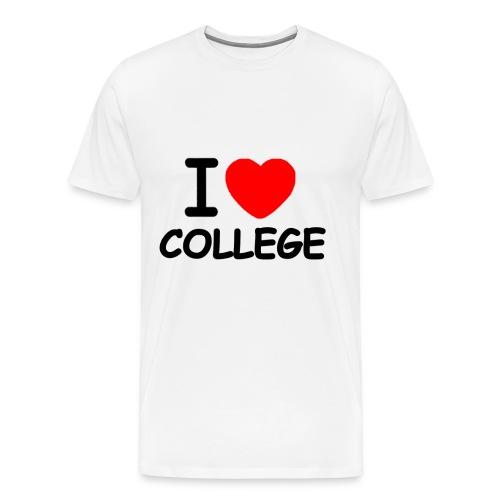 I Love College - Men's Premium T-Shirt