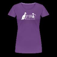 Women's T-Shirts ~ Women's Premium T-Shirt ~ PAWS Logo White