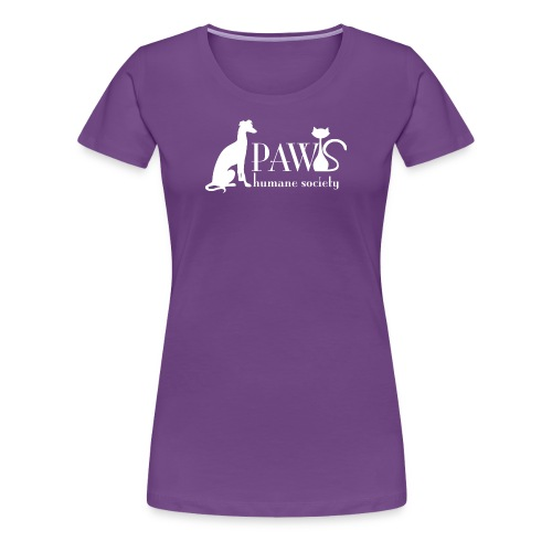 PAWS Logo White - Women's Premium T-Shirt