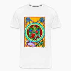 celtic_illumination__winged_lion T-Shirts
