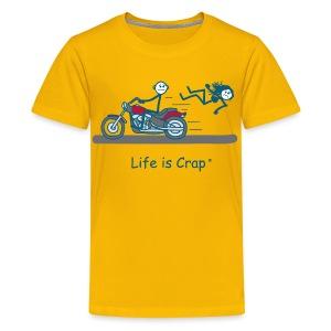 Motorcycle Babe - Kids' Premium T-Shirt