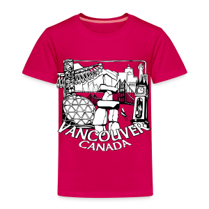 Vancouver T-shirt Toddler Vancouver Canada Shirt - Toddler Premium T-Shirt