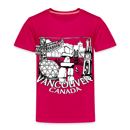 Vancouver T-shirt Toddler Vancouver Canada Shirt - Toddler Premium T-Shirt