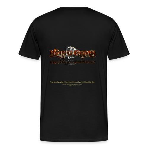 Living Gems Franklin T-Shirt (Men's Heavy) - Men's Premium T-Shirt
