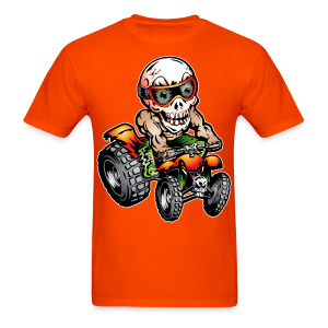 Crazy Off-Road Quad Rider - Men's T-Shirt