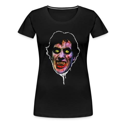 American Wolf Womens Horror T Shirt - Women's Premium T-Shirt