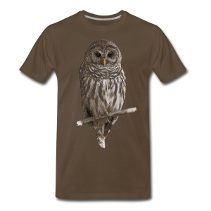 Barred Owl 4757_for_brown - Men's Premium T-Shirt