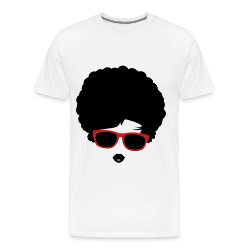 GLASSES WITH AFRO - Men's Premium T-Shirt