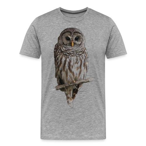 Barred Owl 4757_for_white - Men's Premium T-Shirt