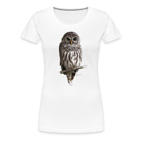 Barred Owl 4757_for_white - Women's Premium T-Shirt