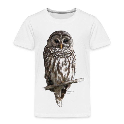 Barred Owl 4757_for_white - Toddler Premium T-Shirt