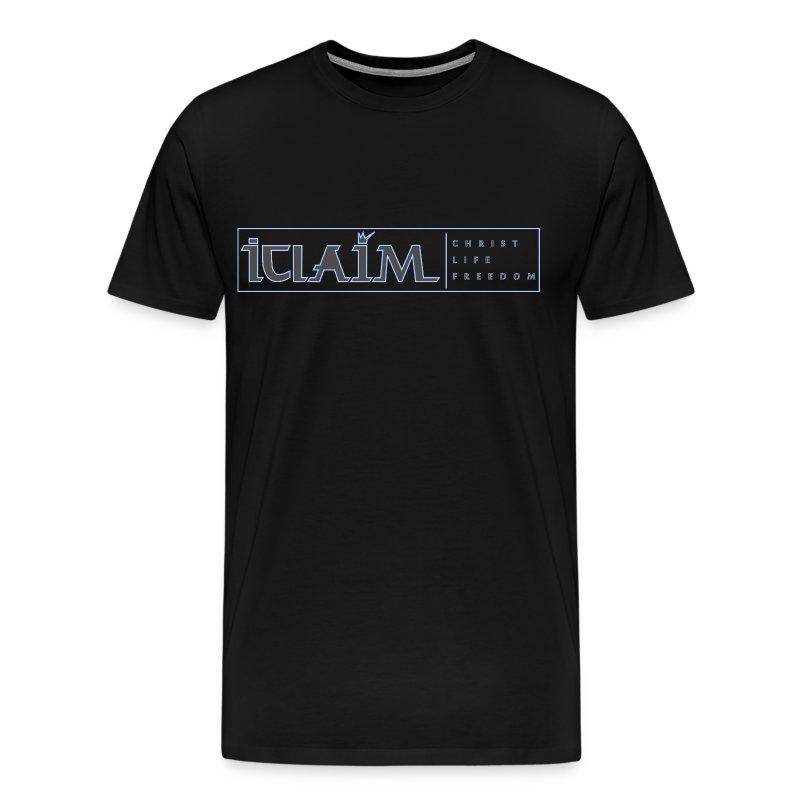 ICLAIM   CHRIST, LIFE, FREEDOM T-SHIRT 3XL & 4XL T-Shirt - Men's Premium T-Shirt