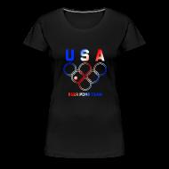 T-Shirts ~ Women's Premium T-Shirt ~ USA Beer Pong Team Girls T Shirt