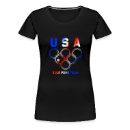 Women's T-Shirts ~ Women's Premium T-Shirt ~ USA Beer Pong Team Girls T Shirt