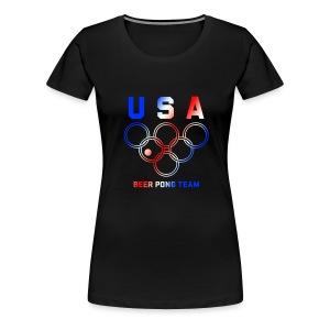 USA Beer Pong Team Girls T Shirt - Women's Premium T-Shirt