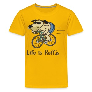 Cyclist Dog - Kids' Premium T-Shirt