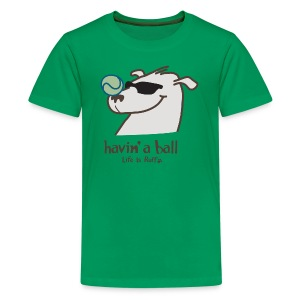 Doggie Tennis Ball - Kids' Premium T-Shirt
