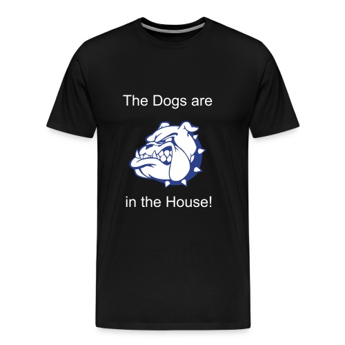 Dogs in the House Basketball Shirt - Men's Premium T-Shirt