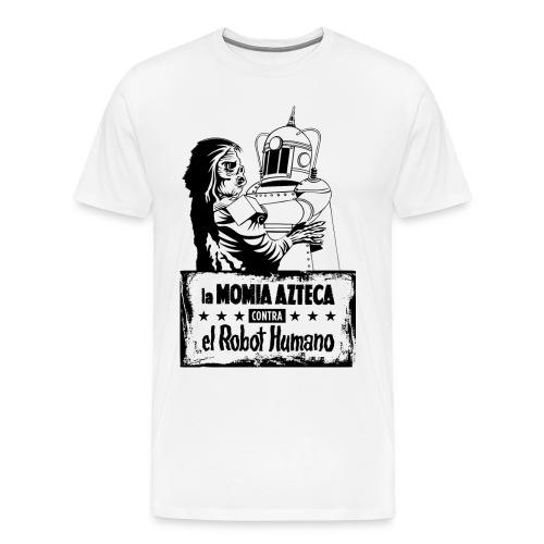 Mummy vs Robot - Men's Premium T-Shirt