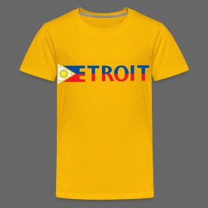 Detroit Philippines Flag - Kids' Premium T-Shirt