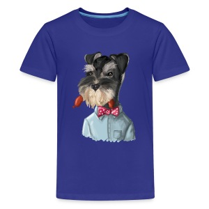 Kids' Premium T-Shirt - schnauzer,hot dog,dog,civilized animals,Fritz Froman