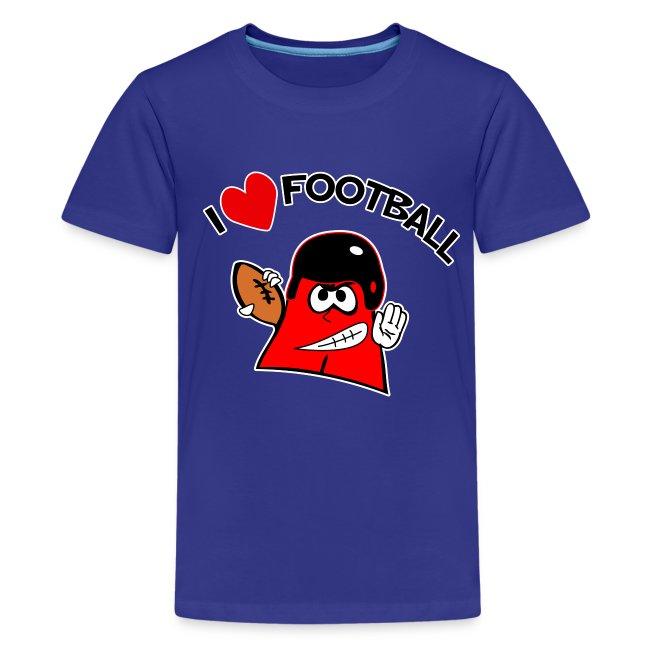 I Love Football. TM  Kids Shirt