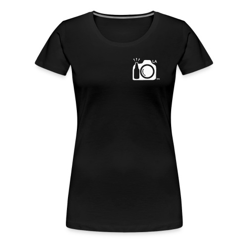 Women's Standard Weight Black T-Shirt White Small Los Angeles Logo - Women's Premium T-Shirt