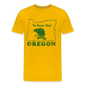 Oregon, The Beaver State men's vintage T - Men's Premium T-Shirt