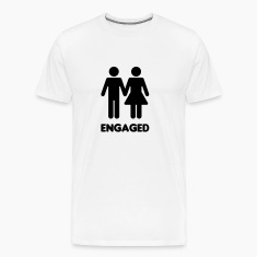 Engaged Couple Sign T-Shirts