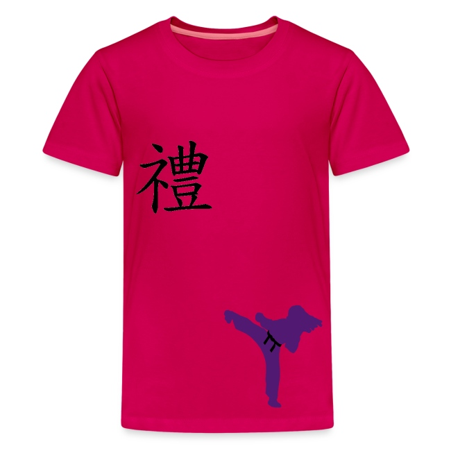 Meaning Of Martial Arts Courtesy S T Shirt In Hot Pink