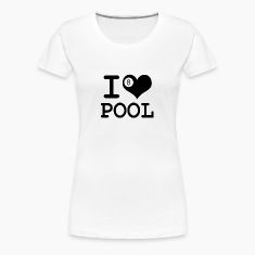 Women's I heart pool T-Shirt