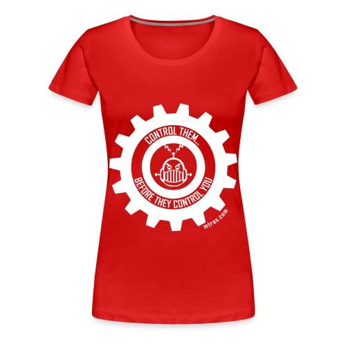 MTRAS Control The Robots White - Women's XL Tshirt - Women's Premium T-Shirt